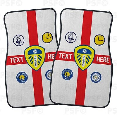 Official LUFC Personalised Car Mats Set of 2 Fronts St George Leeds United FC