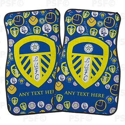 Official LUFC Personalised Car Mats Set of 2 Front Mini Crests Leeds United FC