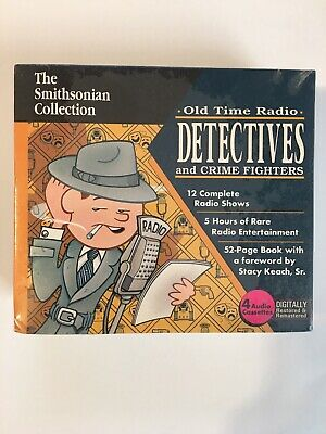 Smithsonian Collection OLD TIME RADIO DETECTIVES CRIME FIGHTERS 4 Audio Cassette