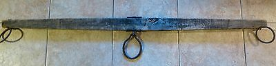 "Antique/Vintage Single Tree Horse Oxen Yoke 72"" Wide Forged Iron Wood Farmhouse"