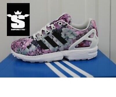 Junior,S Adidas Zx Flux J Floral Pattern Trainers (295)