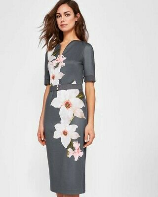 39483441 TED BAKER BISSLEE Chatsworth Bloom bodycon dress 3#=US8 Free ...