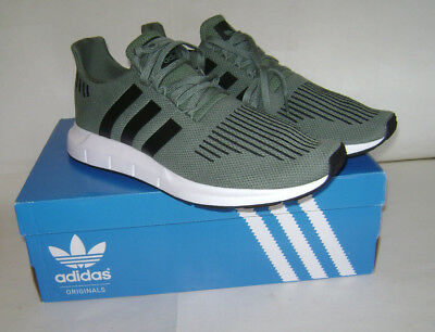 bf47b99ede211 NIB adidas SWIFT RUN Men Running Sneakers Shoes Sz 13 Green White CG4115