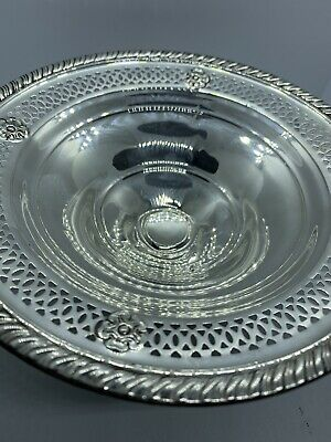 Crown, Vintage Antique STERLING WEIGHTED BOWL, For Candies, 3.9oz Or 112 gram