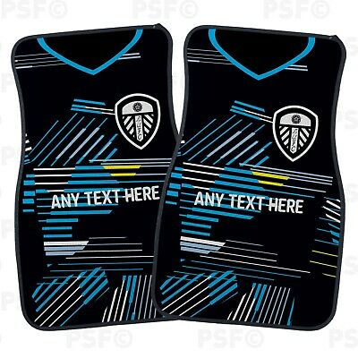 Official LUFC Personalised Car Mats Set of 2 Fronts Away Shirt Leeds United FC