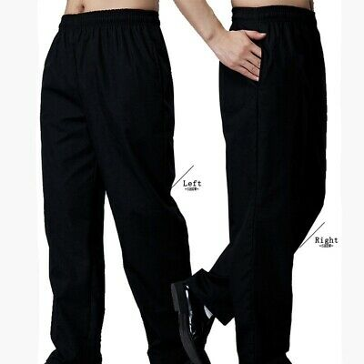 Men Chef Baggy Pants Drawstring Restaurant Cook Hotel Uniform Trouser Casual New