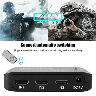 5 Way 4K 3D 2160P HDMI Switch Switcher Selector Splitter Hub Remote for HDTV DVD