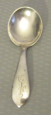 "antique S Kirk & Son sterling silver WADEFIELD BABY SPOON 3.75"" mono PCD 22g"