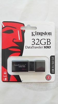 Clé USB 32Go Kingston DT100G3/32GB USB3.1 NEUVE