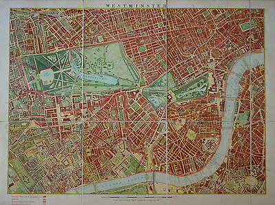 London School Board Map Of Westminster 1893.