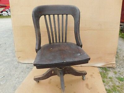Vintage Mahogany 1940's Office Chair