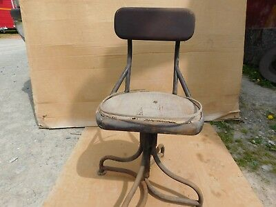 Vintage Cane Wood Seat Secretary Office Chair 1940's