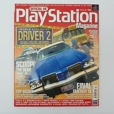 Official UK Playstation Magazine March 2000 No. 56 Driver 2 Cover