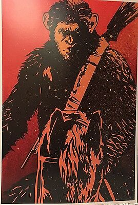 "PLANET OF THE APES TRIPLE FEATURE 2-Sided POSTER 2017 MINT ORIGINAL 13""x19"""