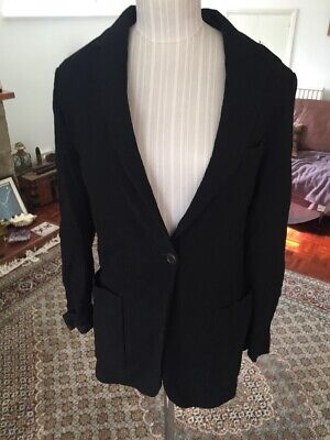 Black Gianfranco Ferre Size 10 Slouch 80's Jacket