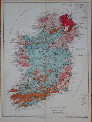 Ireland - Stanford's Geological Atlas, Published 1914.