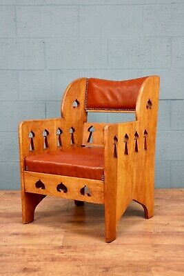 Arts and Crafts Oak Chair, Goodyers of Regent Street Armchair (100671)