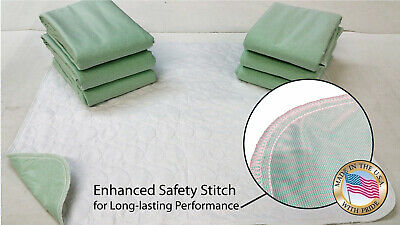 6 New Bed Pads 34X36 Washable Reusable Underpad Hosp Grade>(2100+ Satisfied)-Usa