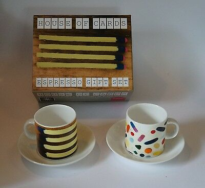 2 Espresso Tassen Charles Eames House of Cards Whitbread Wilkinson