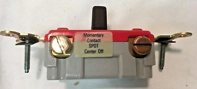 Slater 727-BR Momentary Contact Center Off  20A 120-277V SPDT Quiet Switch Brown