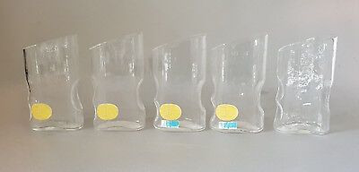 "5x RIEDEL  "" drink in ""  Glas Trinkglas glass 70er 70s space age austria design"
