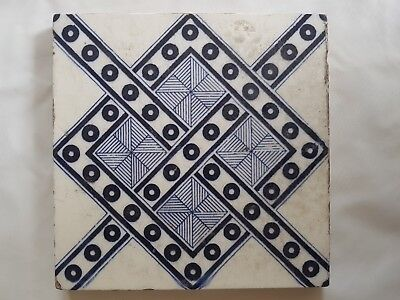 Minton Architectural Period Tile. Circa 1880'S. Geometric Form
