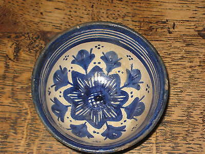 Old Faience Bowl Possibly Middle Eastern Moorish