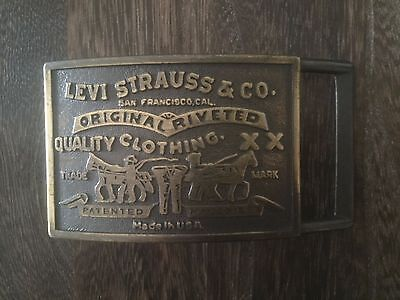 Levis Vintage Solid Brass Mens Belt Buckle
