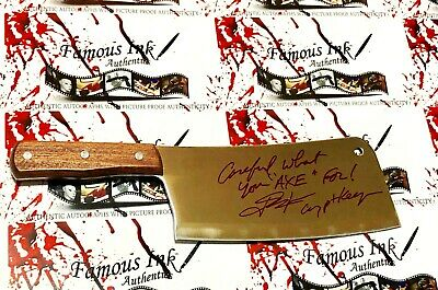 John Kassir Autographed REAL Butcher Knife Crypt Keeper Tales From The Crypt