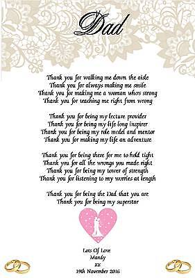 Wedding Day Thank You Gift Wedding Favours Husband of the bride A5 Photo Home, Furniture & DIY