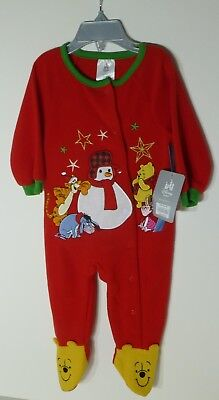 DISNEY BABY Winnie the Pooh Holiday Footed Blanket SleeperBNWT Size 9-12 months