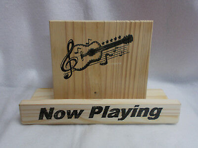 Handmade  Vinyl Record Stand - Show Your Now Playing Record Cover
