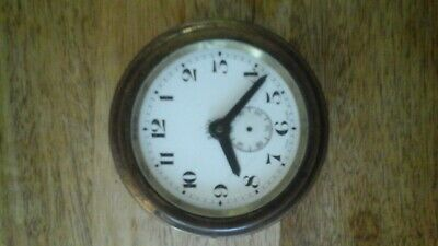 Antique Swiss Octo non magnetic 8 day car clock .