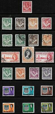 Northern Rhodesia 1925 - 1953 KGV to QEII Collection - MH & Used - 22 stamps