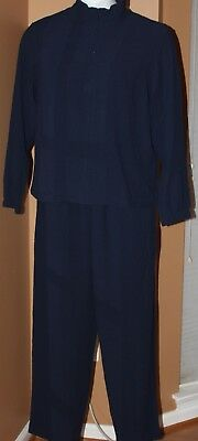 f2a975d55 ORVIS JACKET AND Pants Navy Blue Outfit Light Weight Crinkled Womens ...