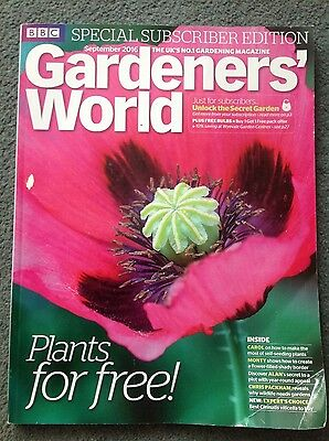 gardeners world magazine - special subscriber edition - September 2016