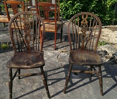Antique Wheelback Hoop Dining Chairs DELIVERY POSSIBLE