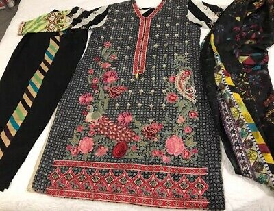 Pakistani Embrioded Designer LAWN STITCHED Readymade Stiched L