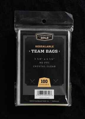 100 (1 Pack) Ultra CBG RESEALABLE TEAM SET BAGS fits all TOP LOADS / ONE TOUCH
