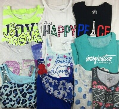 Justice Girls Size 12 Lot Short Sleeve Shirts and Tank Tops