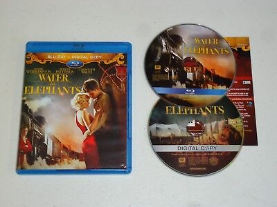 Water for Elephants (Blu-ray Disc) Reese Witherspoon Robert Pattinson RATED PG13