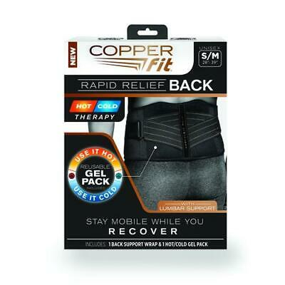 Copper Fit Size Small/Medium Rapid Relief Back Support in Black