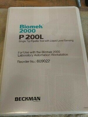 BECKMAN BIOMEK 2000 P200L SINGLE TIP PIPETTE TOOL w/ CASE- FREE SHIPPING