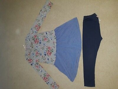 Next Girls Tunic Top Dress & Leggings Set Age 5 New without tags