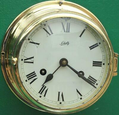 Schatz Mariner Vintage German 8 Day Ships Bell Marine Clock