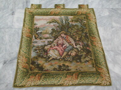 4918 - Old French / Belgium Tapestry Wall Hanging - 90 x 87 cm
