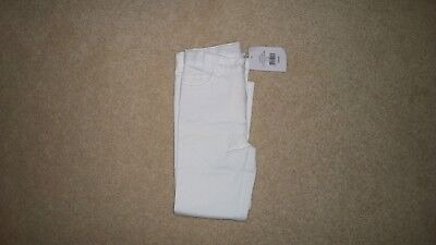 Little White Company Girls White Jeans Age 4-5 New with tags
