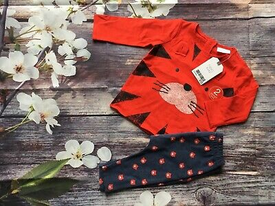 NEXT Baby Boys Outfit Tiger Top + Leggings 3-6 months BNWT