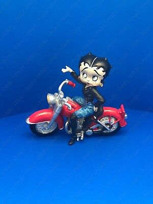 """BETTY BOOP """"Betty Riding Motorcycle """" Resin Figurine By Westland Giftware"""