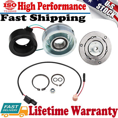 AC A/C Compressor Clutch Kit Pulley Bearing Coil Plate For HONDA CR-V CRV 06-11